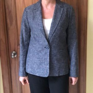 Blue-gray blazer